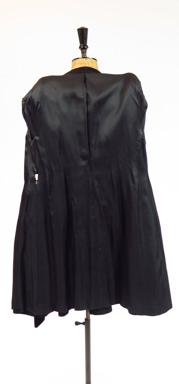 Original Vintage 1930s 1940s Black Tailored Fitte… - image 9