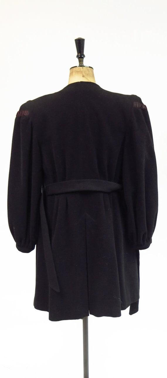 Original Vintage 1930s 1940s Black Tailored Fitte… - image 6