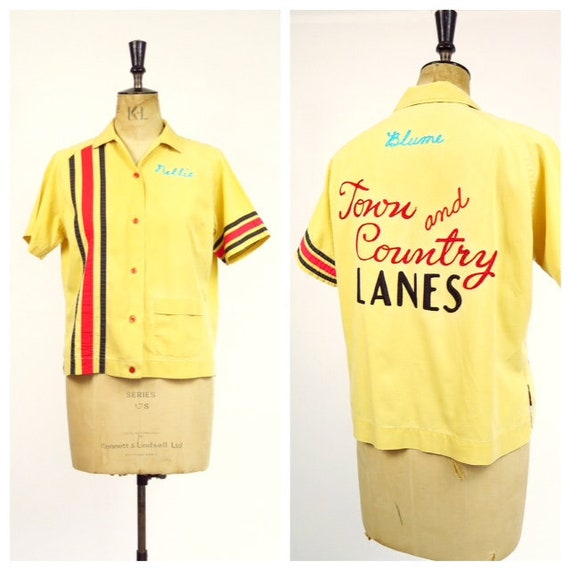 1950s Women's Bowling Blouse