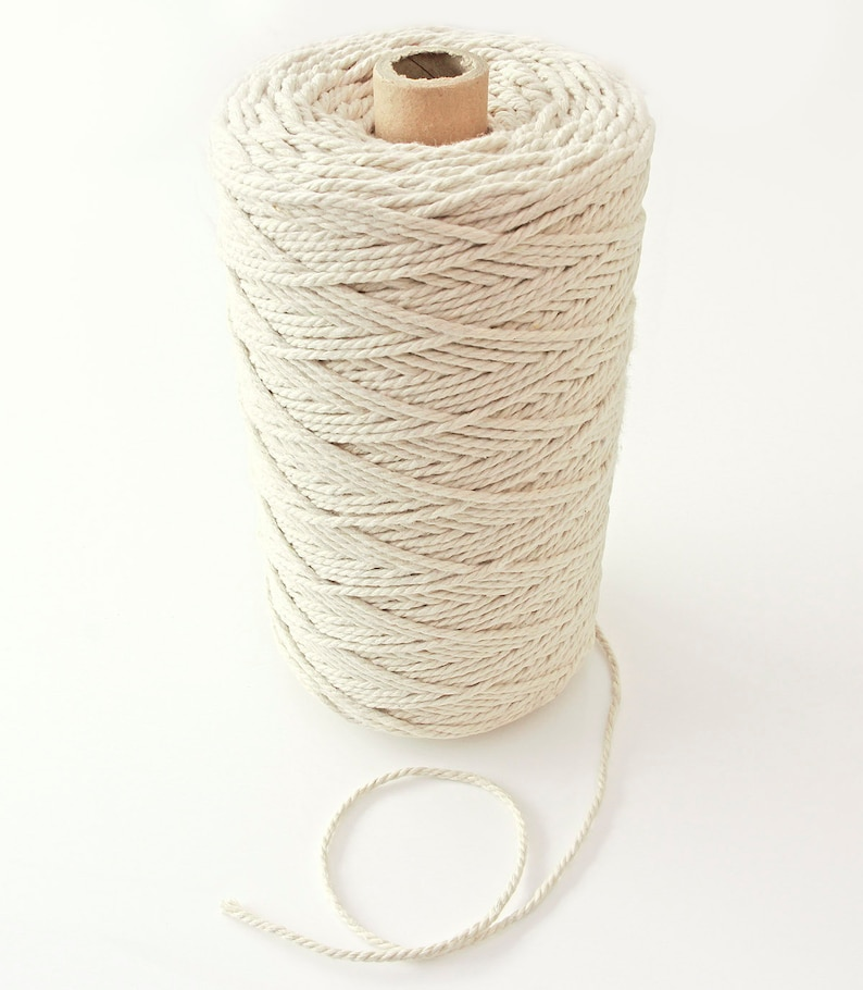 360 yards - 2 5 mm diameter, 1kg Natural Cotton Rope Twisted Craft  Decorative Cord For Craft Projects, FM050