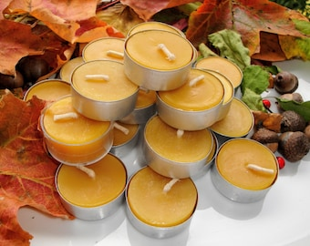 Beeswax Tealights 4 pack | 100% Pure Beeswax | Beeswax Candles | Gifts under 20