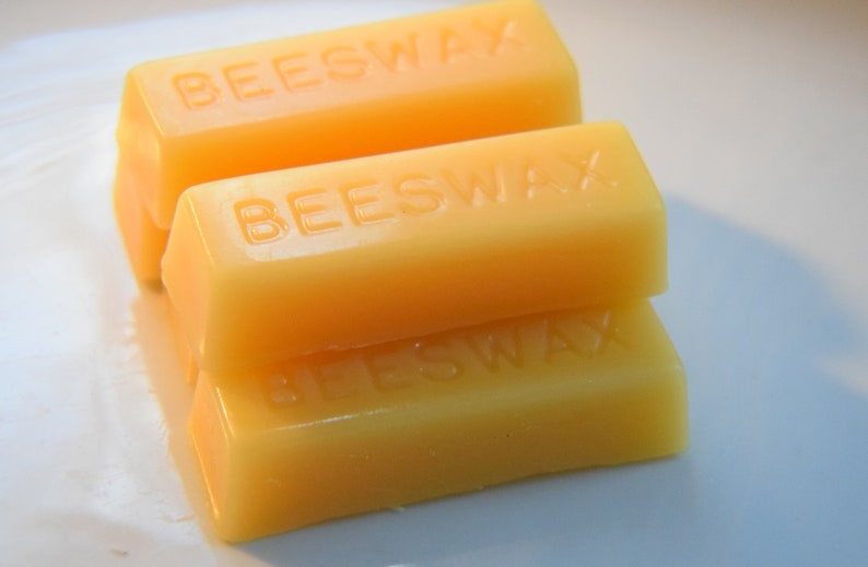 Pure Beeswax Block  100%  Pure Beeswax  Hand poured 1oz Bar image 0