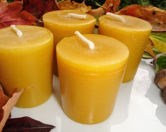 Votive Candle 100% Pure Beeswax  Natural Golden Yellow | Beeswax Candles | Gifts under 10