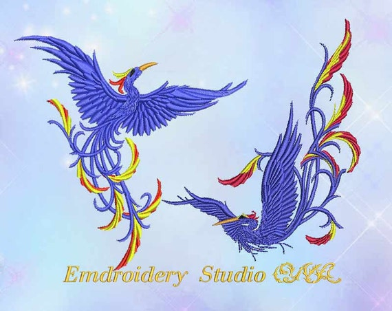 Machine Embroidery Design Birds Of Paradise Embroidery Birds Etsy