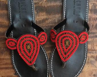 3954f0af250d Passion handmade sandals flip flops summer bead shoes leather holiday