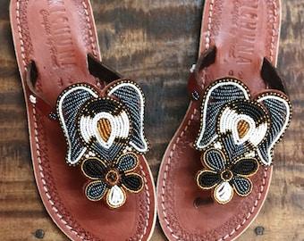 64daaaea1619 Angel handmade sandals flip flops summer bead sshoes leather holiday