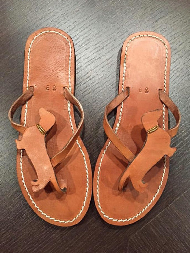 3467d1725 Dachshund Doxie Lover Gift Handmade Sandals Flip Flops Shoes