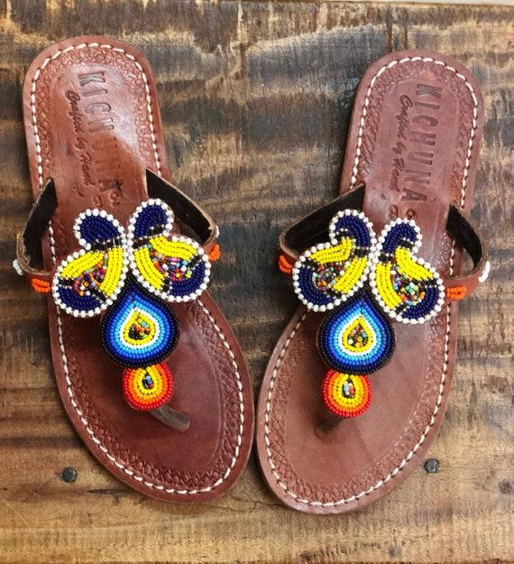 f8e2b08c950f Butterfly handmade sandals flip flops summer bead sshoes