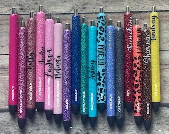 Personalized Glitter Pens, Glitter Gel Pens, Epoxy Glitter Pen, Ink Joy Pen, Customized Pens, Gift Pens, Monogrammed Gel Pens, XoXo Amour
