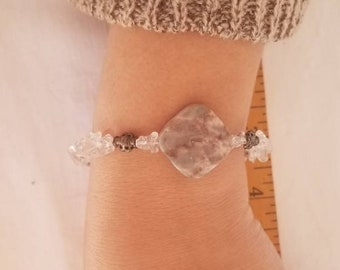 Marble Stone Quartz Chip Bracelets. freefallingcreations Spring Picks