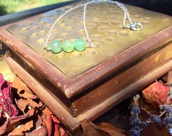 Delicate Bohemian Emperor Jade Necklace