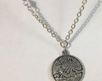 Virgo Celestial Zodiac Silver Necklace