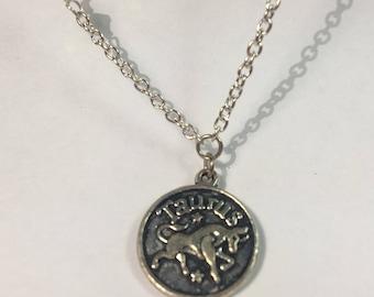 Taurus Celestail Zodiac Silver Necklace