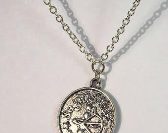 Sagittarius Celestial Zodiac Silver Necklace