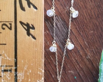 Moonstone Dainty Gold Necklace