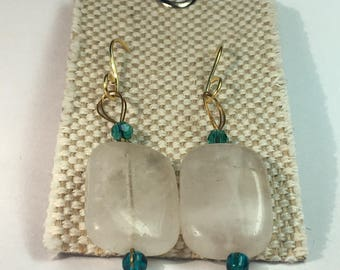 Quartz Blue Earrings