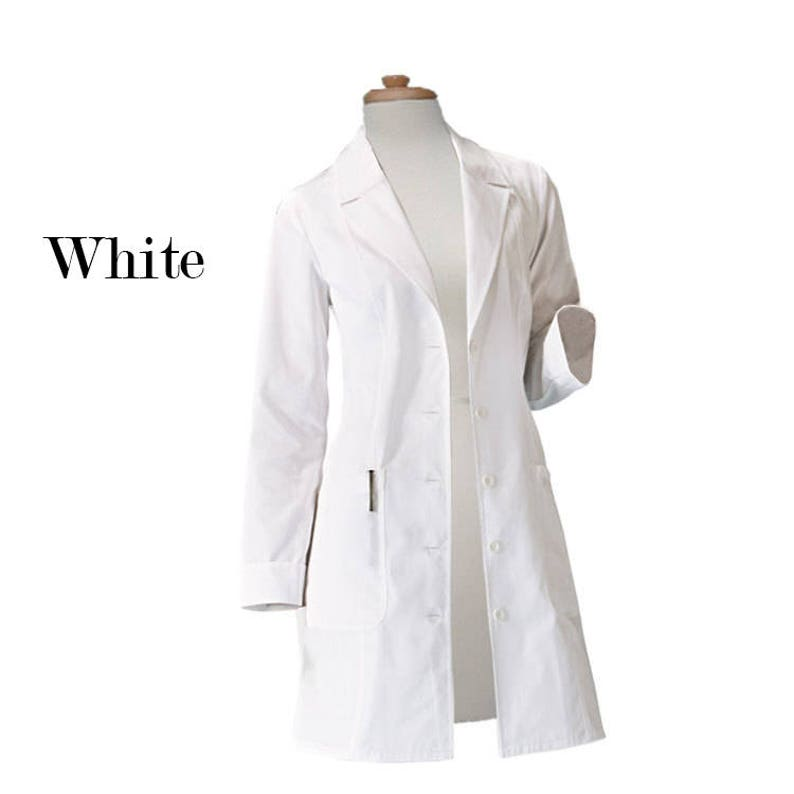 2d7cb22dba Women Lab Coat 36 inch Multi Pockets Snap front, Free Personalized, Color  coats, Monogram, Free Shipping, scientist costume, Halloween Gift,