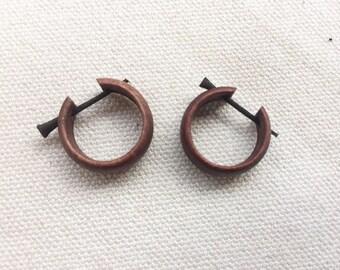 Tribal Coconut Wood Earrings