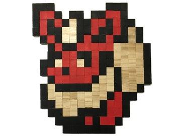 Eevee Pokemon Wall Decor In Wood Pixel Art Etsy