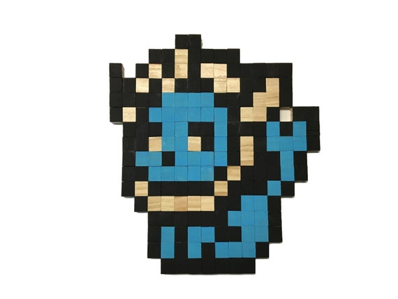 Vaporeon Pokemon Eevee Evolution Wall Decor In Wood Pixel Art