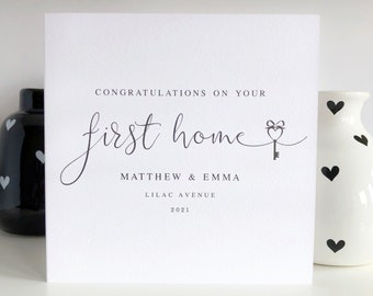 Personalised Congratulations on your First Home Card, New Home Cards, New House Card, Living Together Card, Moving Card LB779