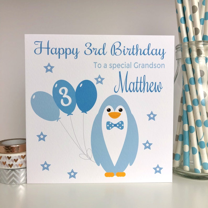 Personalised Birthday Card 1st 2nd 3rd 4th 5th