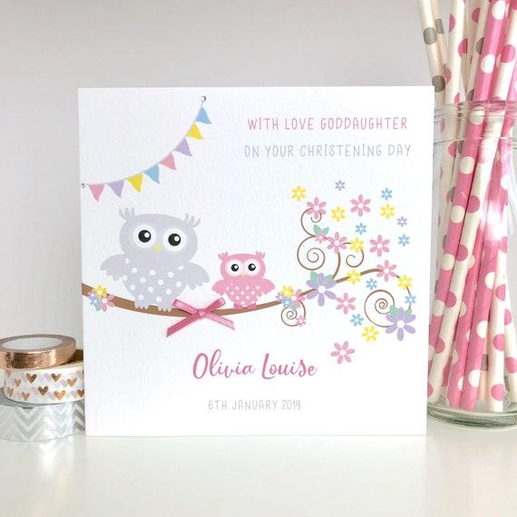 Personalised New Baby Girl Card Gift Boxed Keepsake Goddaughter Granddaughter