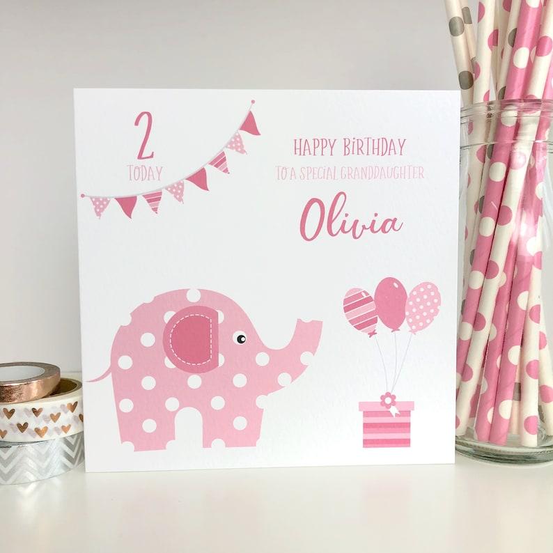 Personalised Birthday Card Granddaughter Daughter Goddaughter
