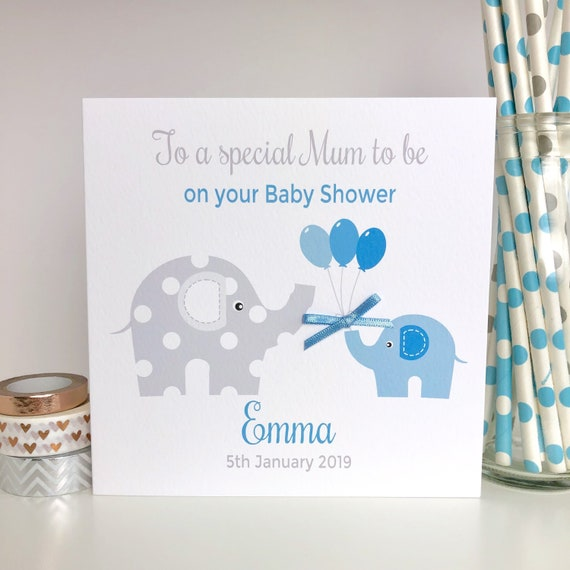 Baby Boy Baby Shower Card