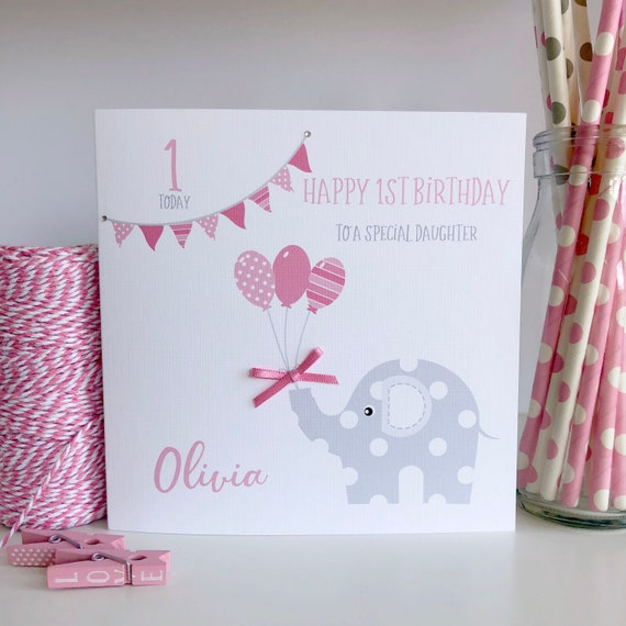Personalised Birthday Card 1st 2nd