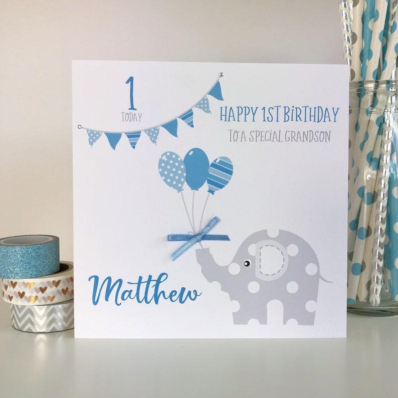 Personalised 1st Birthday Card Boys Son