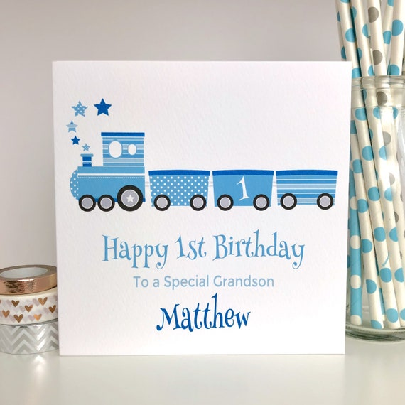 Personalised Birthday Card 1st 2nd 3rd 4th Son