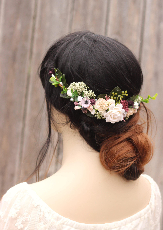 Eucalyptus baby breath half flower crown wedding hair etsy zoom izmirmasajfo