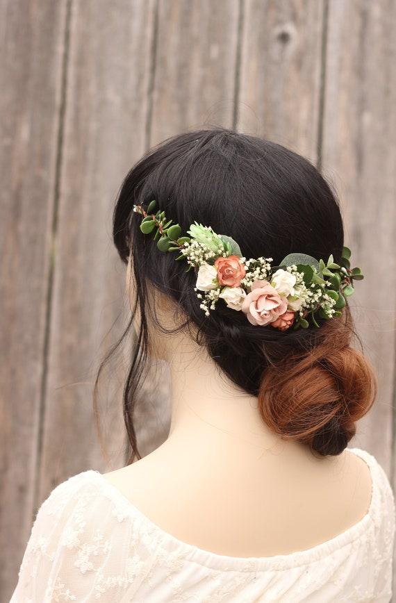 Autumn Wedding hair accessory Flower hair comb Greenery hair comb Bridal headpiece Eucalyptus hair comb Greenery headpiece Wedding hair pin