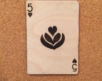 Five of hearts - 3 leaf tulip