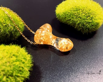Necklace Epoxy Resin, Original Necklace, Penis necklace, Golden Penis, Crystal Penis, Crystal Resin Pendant, Romantic Jewelry Resin necklace