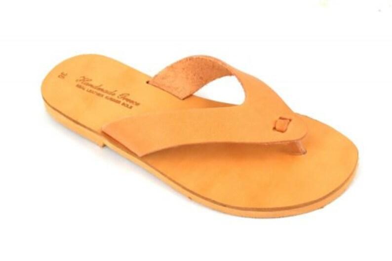 flip flop sandals Genuine leather Handmade sandals greek sandals flat shoes Leather sandals summer sandals women sandals brown color