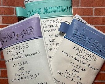 LIMITED QUANTITY- Disney park Fastpass bags - Haunted Mansion, Splash Mountain or Space Mountain - super cute!!