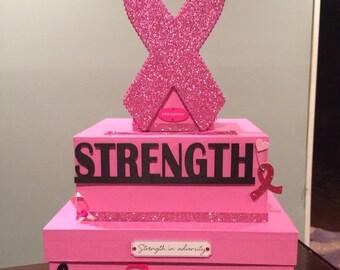 Breast cancer fundraiser donation box