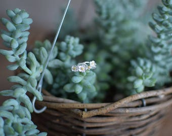 Silver Flower Ring - Resizeable