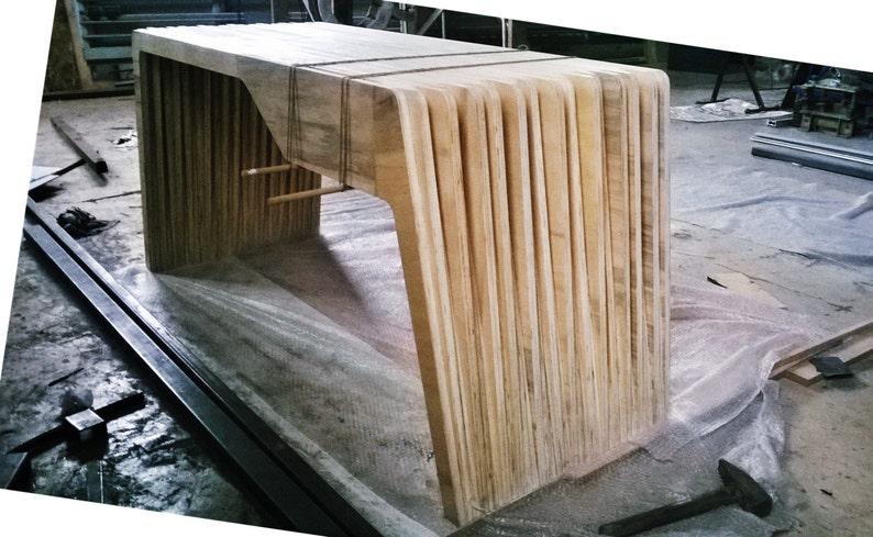 Bureau modern avec un tiroir contreplaqué de cèdre etsy