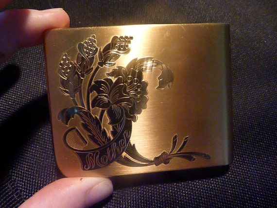 """Vintage compact mirrors Elgin """" Mother """" powder co"""