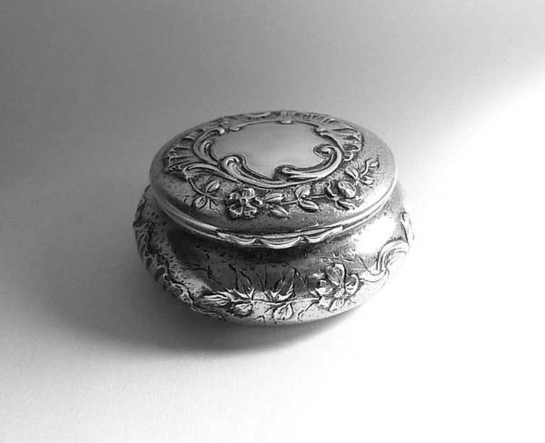 Silver wedding anniversary gifts for her sterling silver Art Nouveau powder  bowl 25th anniversary gifts for wives
