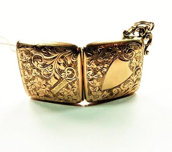 Edwardian Hallmarked 9 Ct Gold Locket With Necklac