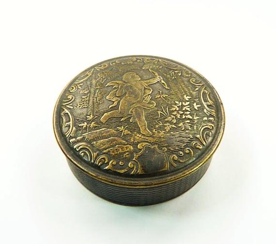 Very Rare Antique Powder Box CUPID