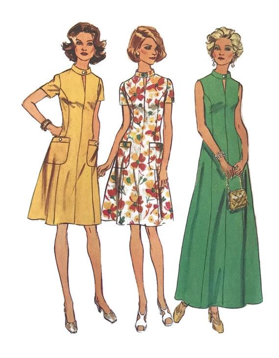 Vintage 70s Plus Size Dress Simplicity Sewing Patterns Etsy