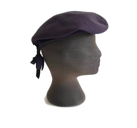 Vintage Wool Tam Wool Beret 1940s New York Creati… - image 4