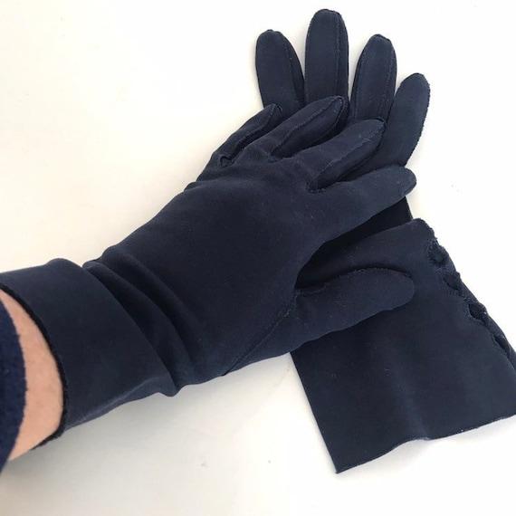 Vintage Cotton Gauntlet Gloves Ladies 50s Claire … - image 7