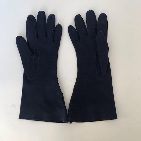 Vintage Cotton Gauntlet Gloves Ladies 50s Claire … - image 6
