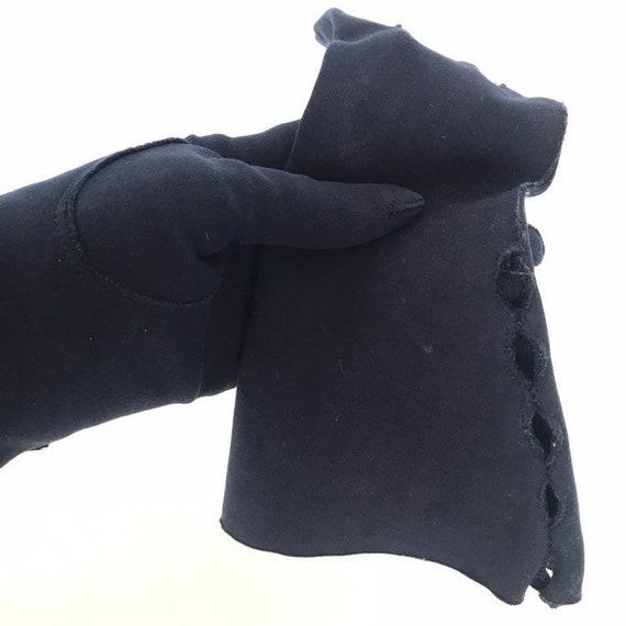 Vintage Cotton Gauntlet Gloves Ladies 50s Claire … - image 4